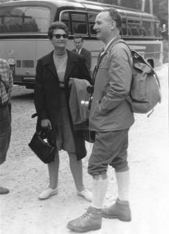 Hans Kuipers (r) in 1968, UME congres Wenen (foto T. Meijer)