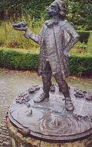 Van Job Baster zijn geen afbeeldingen bekend. Het standbeeld wat in 1976 in zijn geboorteplaats Zierikzee ter zijner ere werd onthuld, berust dan ook op de fantasie van de beeldhouwer. Foto M.C. Cadée.